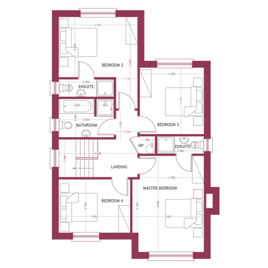 TYPE A First Floor Map