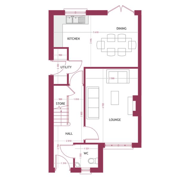 Type E Ground Floor